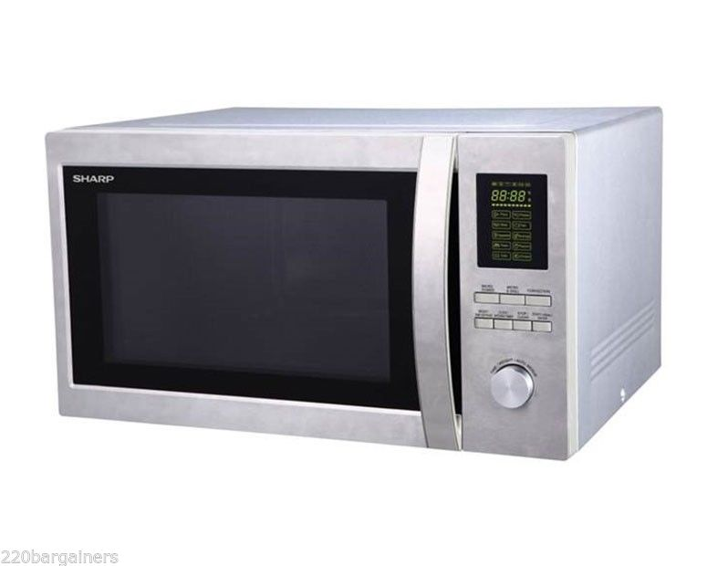 sharp 220 volt 43l large combination microwave oven with grill 220v 240v 50hz will not work in north america walmart com