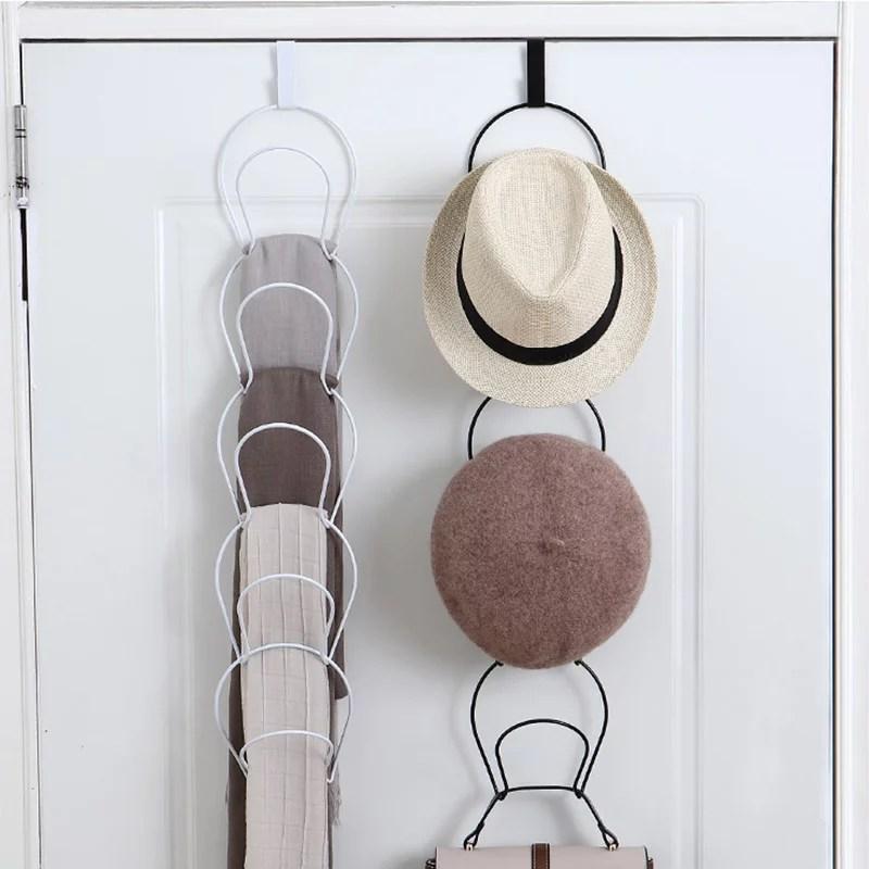 adjustable 5 pcs hat rack door wall