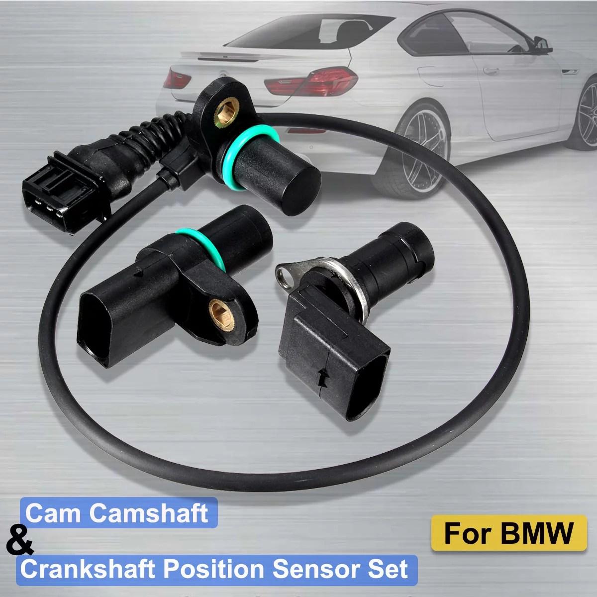 intake exhaust cam camshaft sensor crankshaft position sensor cps with o r for e46 12147539165 12147518628 12141709616 replacement us