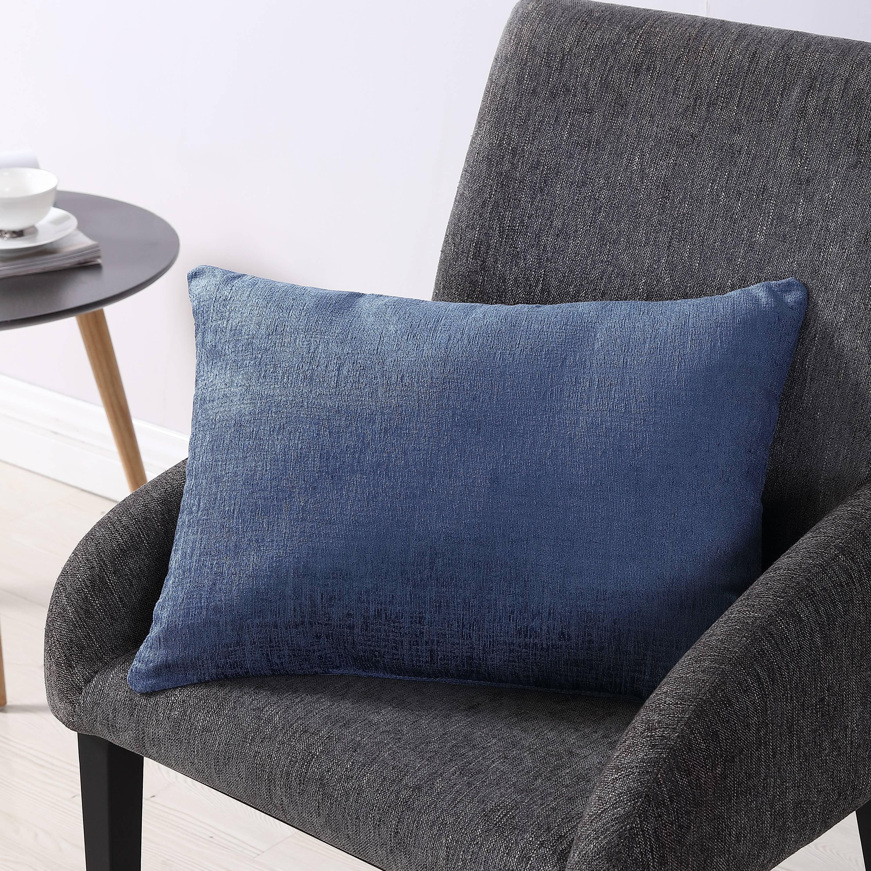 mainstays chenille oblong decorative throw pillow 14 x 20 blue