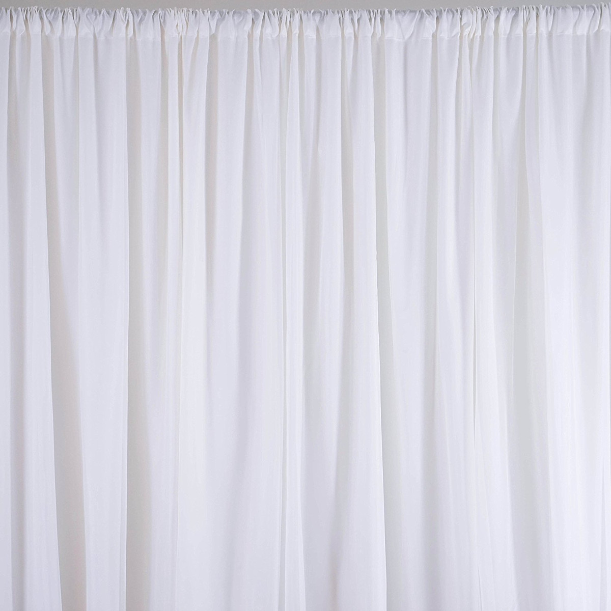on 2 4m white fabric backdrop drapes curtains wedding ceremony event party photo booth home windows decor