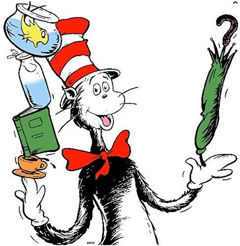 Dr Seuss Cat In The Hat Birthday Party Edible 1 4 Sheet Image Frosting Cake Topper Icing Walmart Com Walmart Com