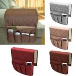 Tsv Anti Slip Armrest Caddy Pocket Organizer For Sofa Couch Chair Recliner Loveseat Storage For Phone Book Magazines Armchair Remote Control Holder Walmart Com Walmart Com