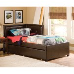 Hillsdale Frankfort Upholstered Corner Daybed Brown Full Double Daybed Only Walmart Com Walmart Com