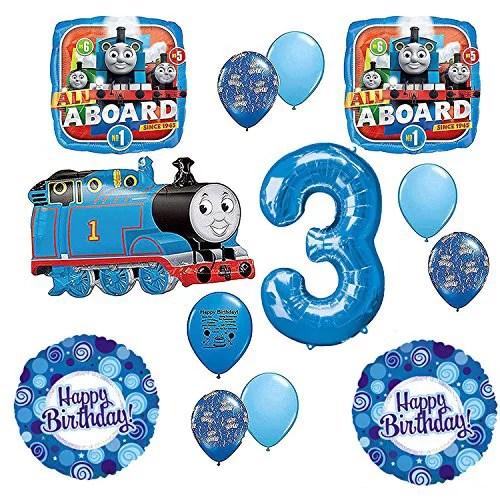 Thomas The Tank Engine Train Party Supplies 3rd Happy Birthday Balloon Kit Walmart Com Walmart Com