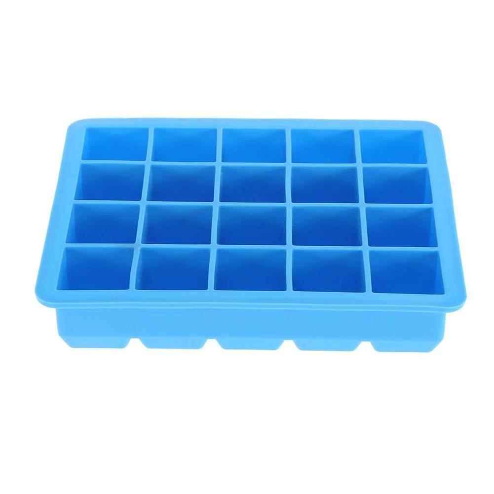 domqga recipient de fabricant de cube en glace de moule de plateau de glacon de silicone de 20 grilles recipient en glacon moule en glacon