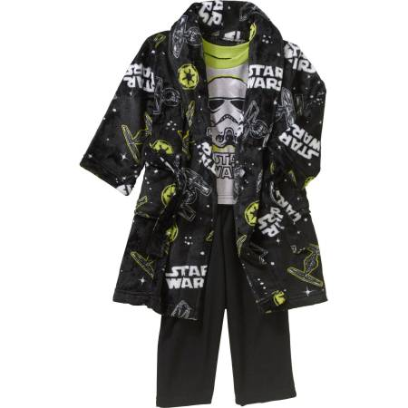 Star Wars Toddler Boy ᅡᅠRobe & Pajama 3 Pc Sleepwear Gift Set