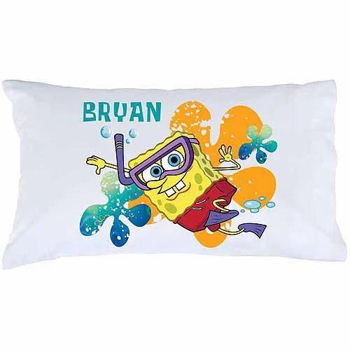 personalized spongebob squarepants snorkel pillowcase