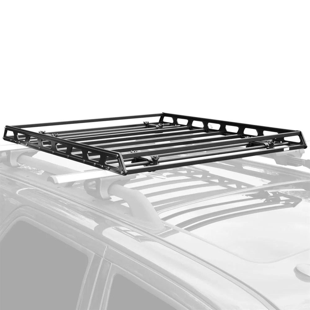 elevate outdoor slim low profile car roof rack camping cargo basket