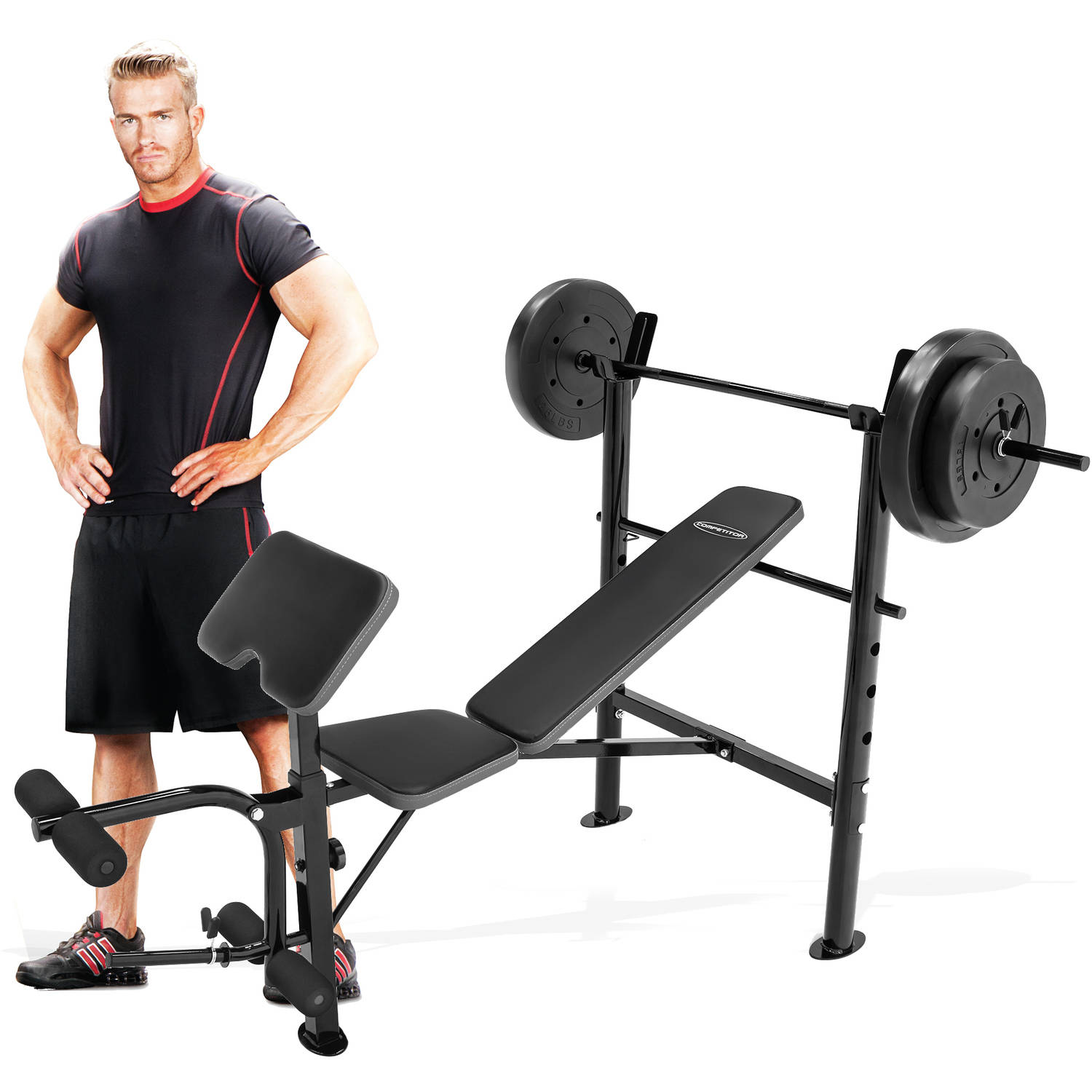 Marcy Competitor Combo Bench With 80 Lbs Weight Set Cb