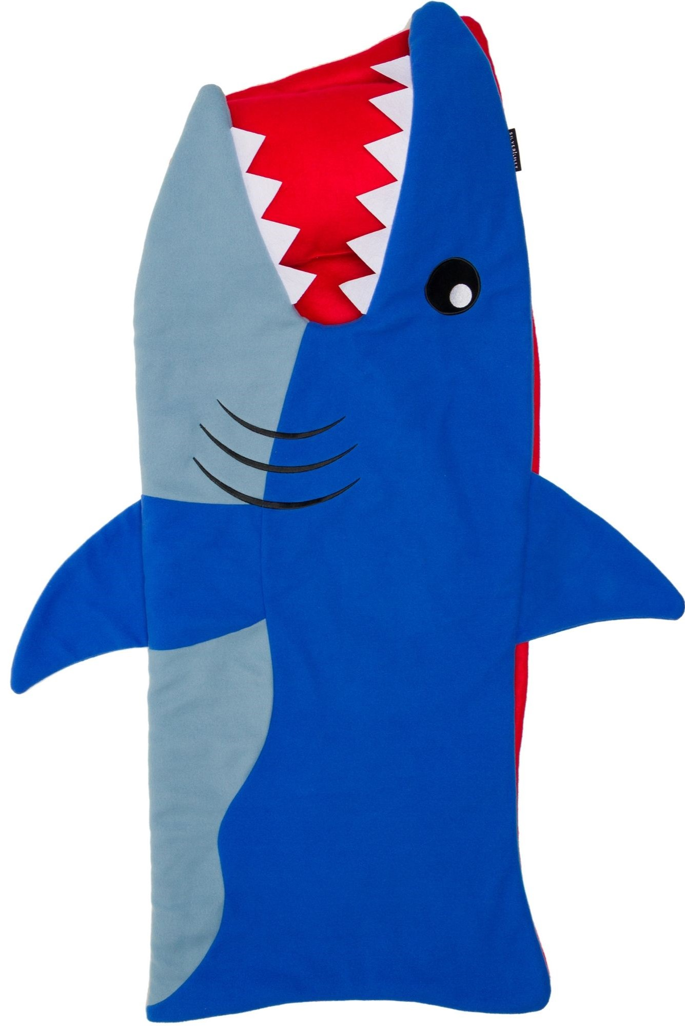 silver lilly shark nap mat kids sleeping bag w attached blanket and pillow
