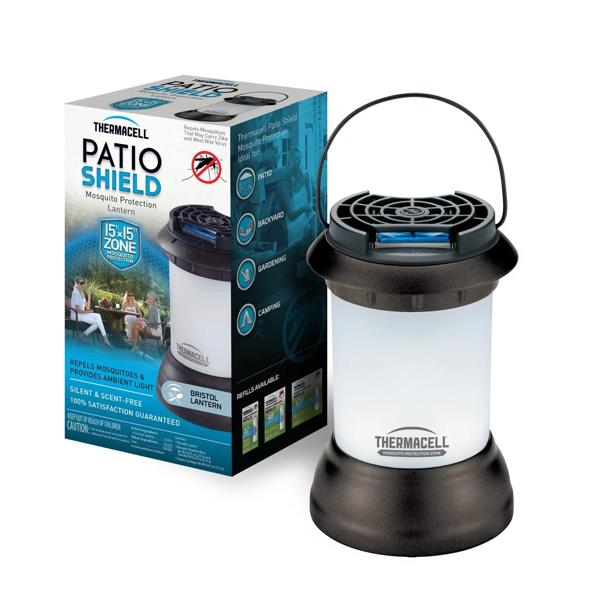 thermacell bristol mosquito repellent patio shield lantern walmart com
