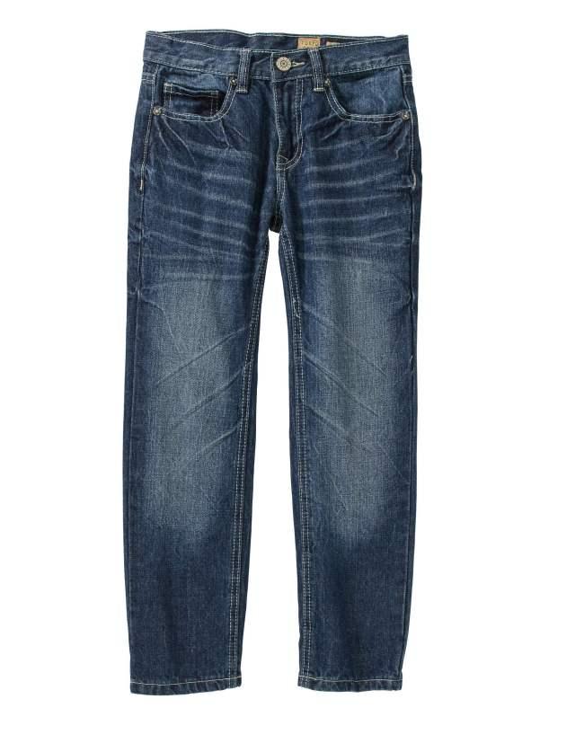 Tokyo Five Boys' Straight Leg Fashion Denim Medium Wash