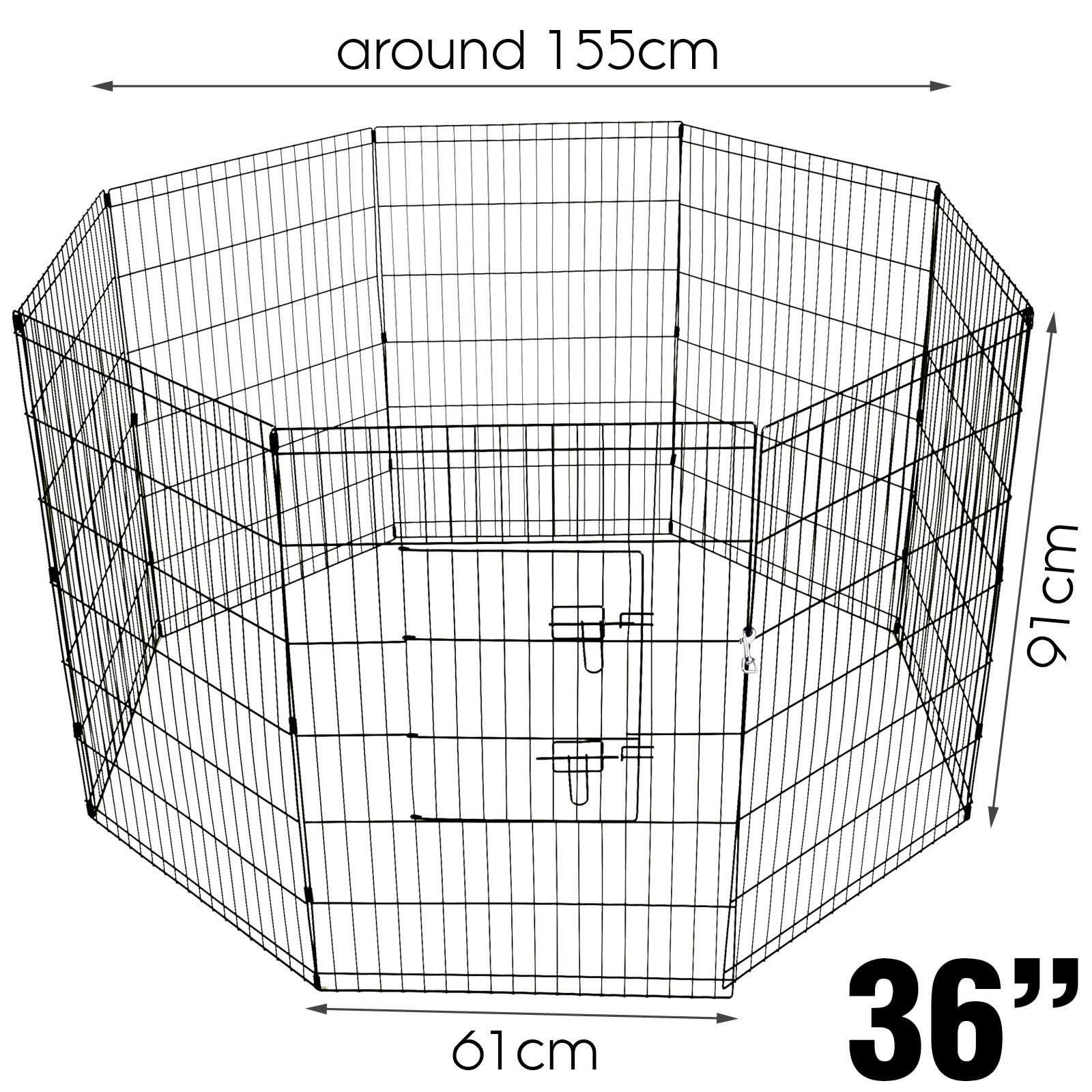 36 Tall Wire Fence Pet Playpen Dog Folding Exercise Yard 8 Panel Metal Play Pen