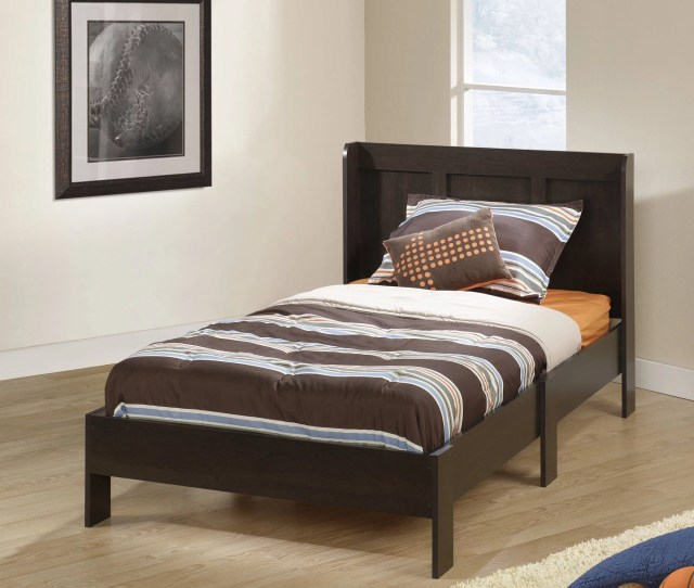 Details About Sauder Parklane Twin Platform Bed With Headboard Espresso