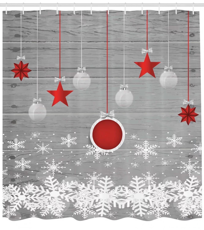christmas decor stars bell shower