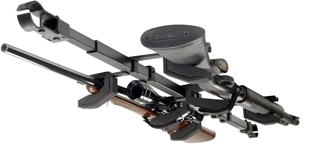 big sky racks sbr 2g utv dual gun atv skybar utv telescoping rifle rack