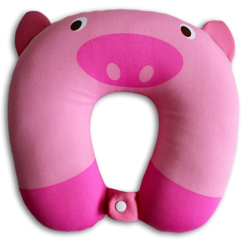 nido nest kids travel pillows for airplane cute u shaped neck pillow for cars toddlers children birthday gifts pig