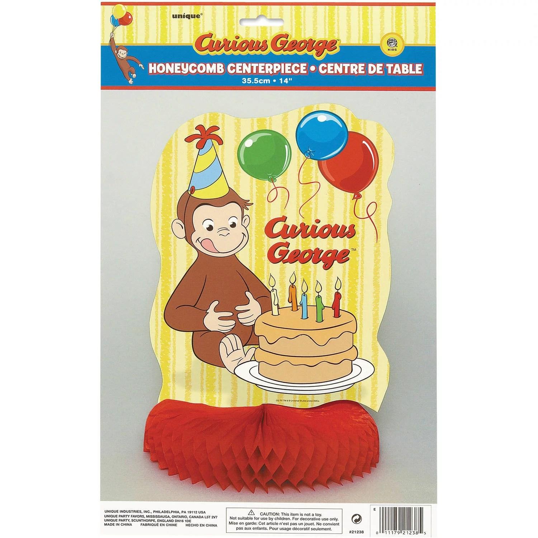 14 Honeycomb Curious George Centerpiece Decoration Walmart Com Walmart Com