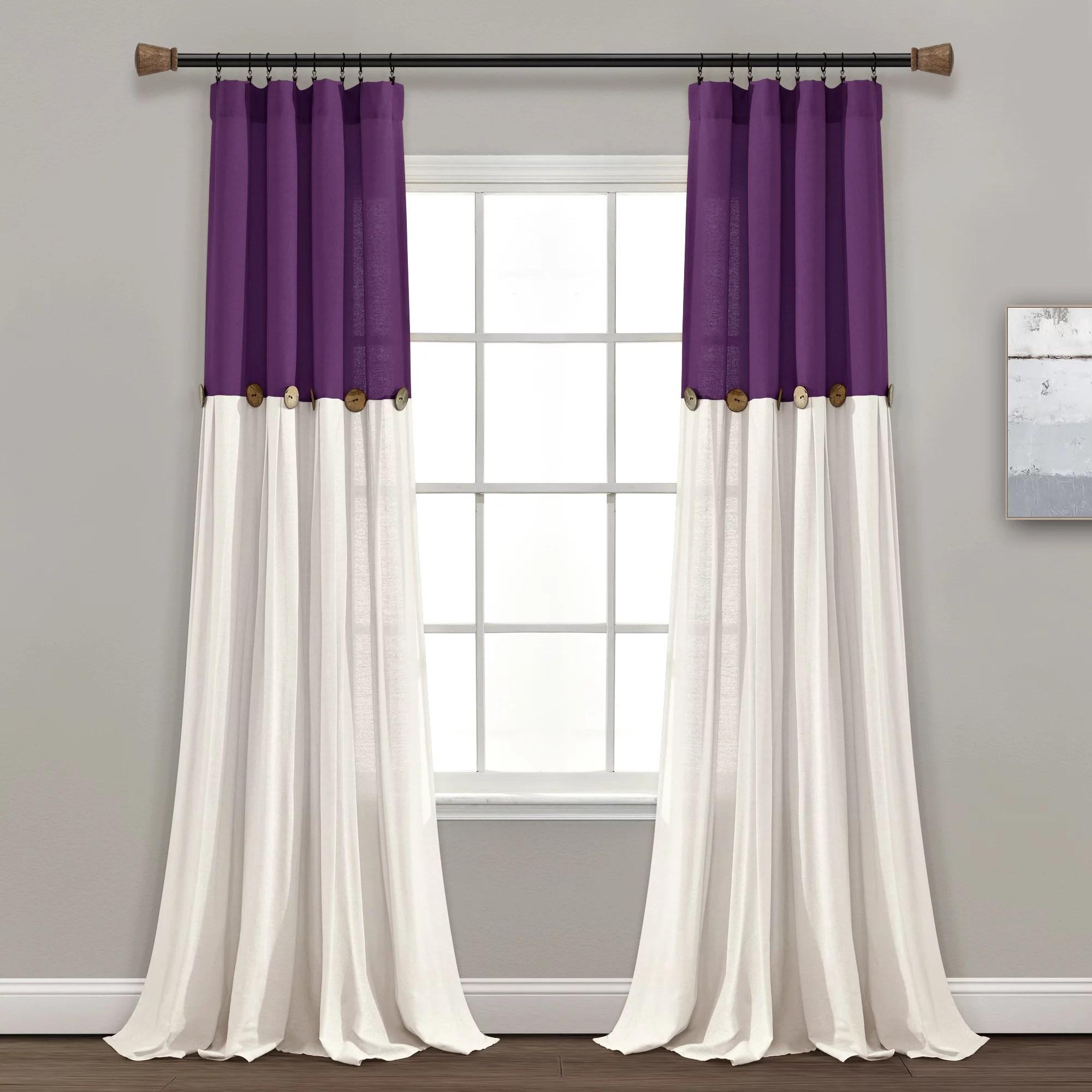 blackout curtains purple walmart com