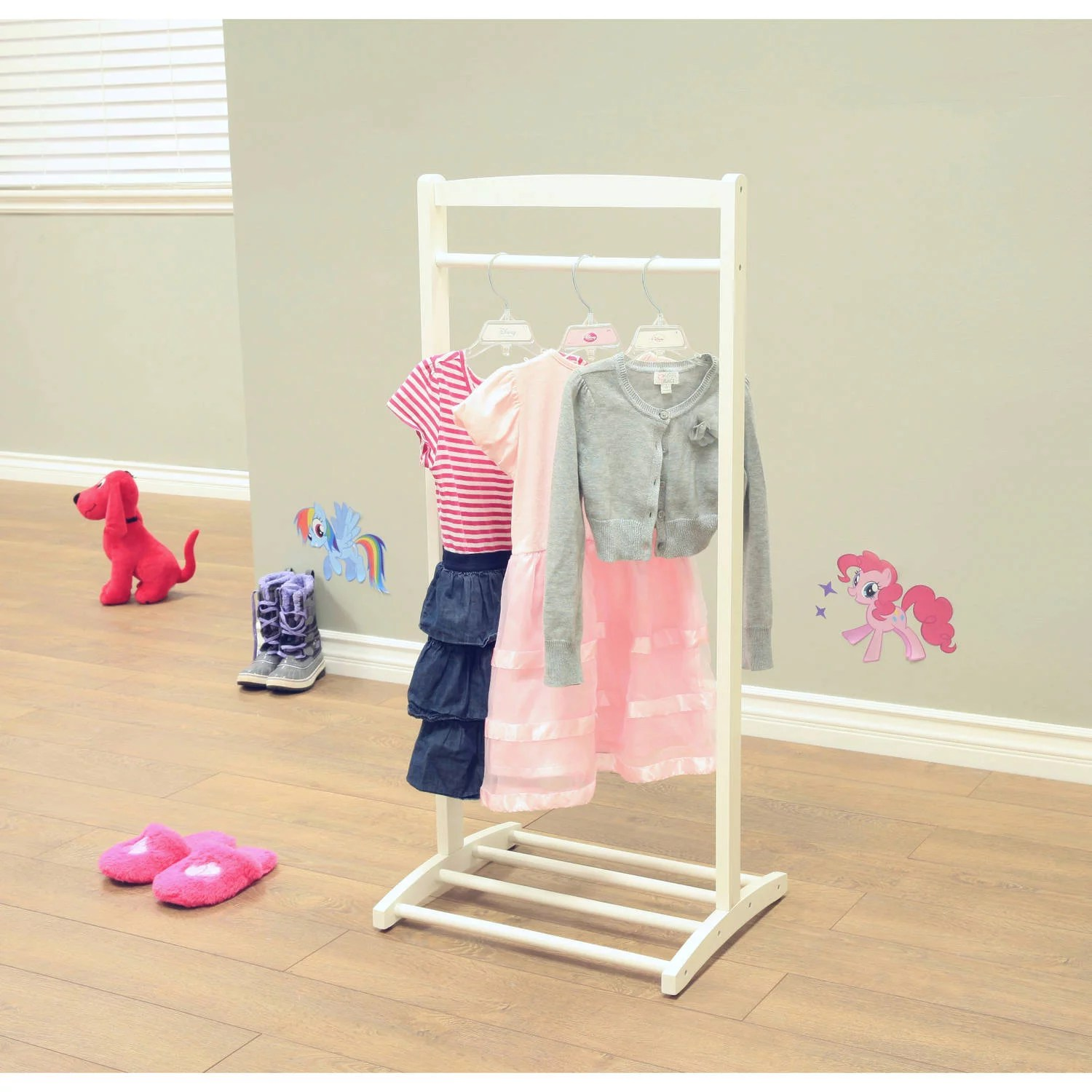 clothing rack from wood for nursery