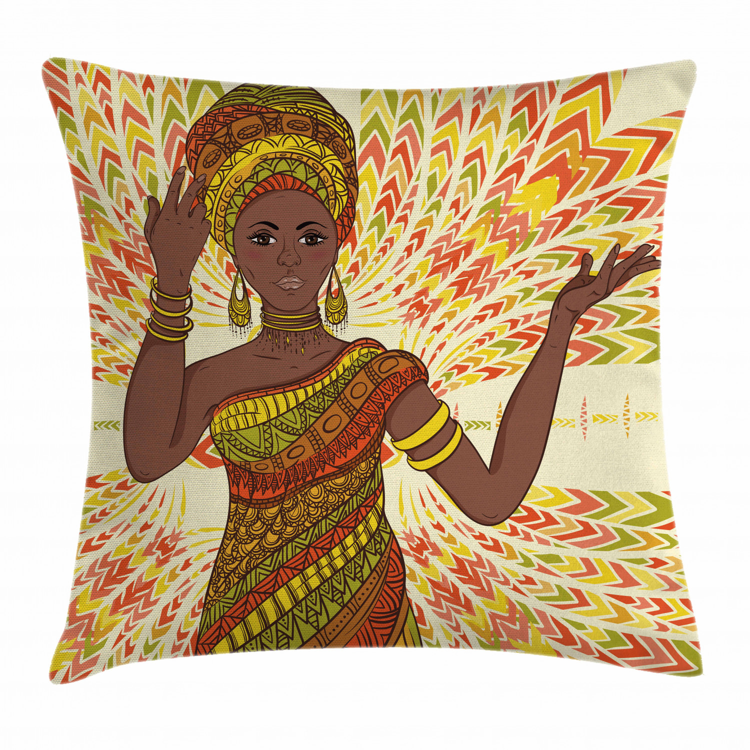 african throw pillow case sketchy