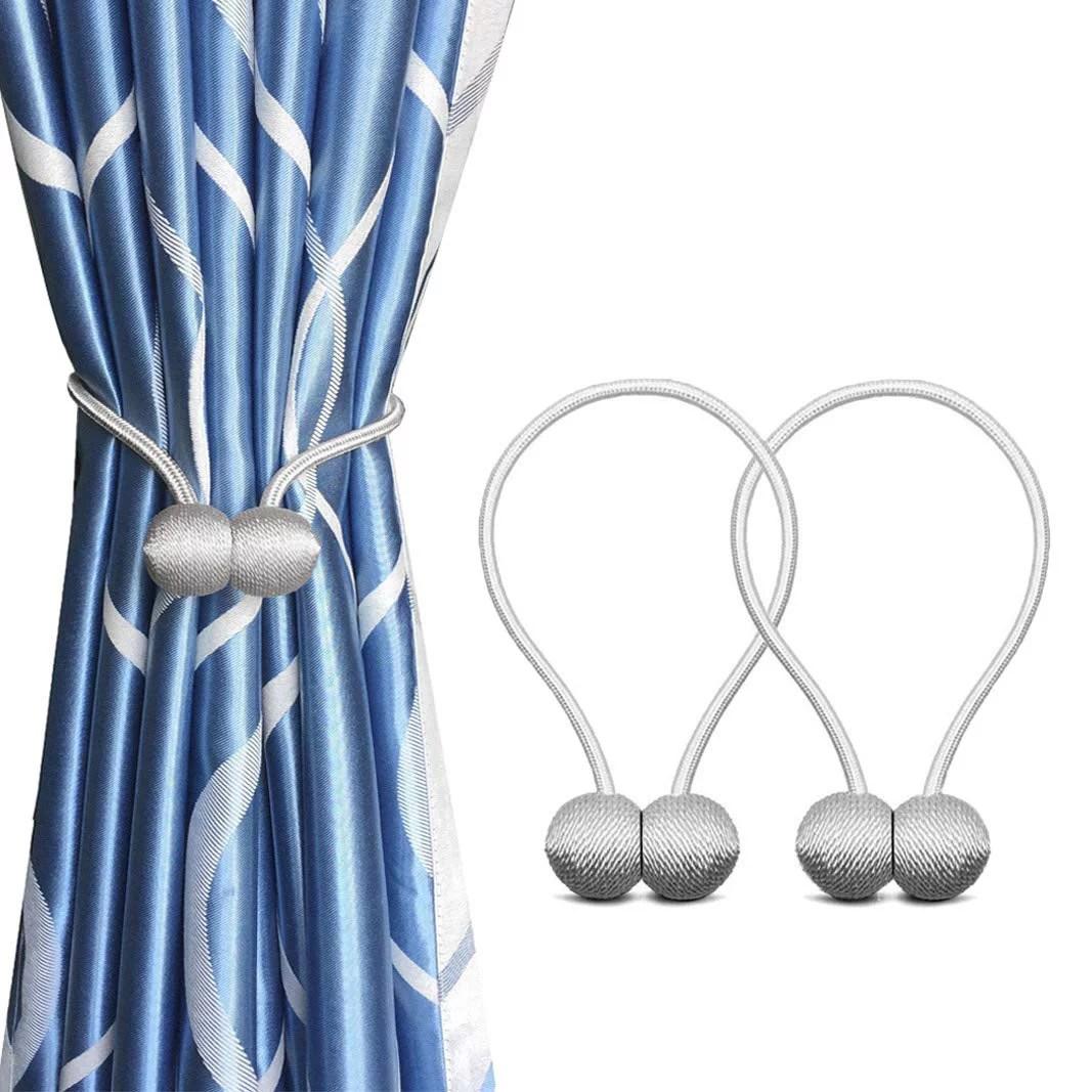 8 pack magnetic curtain tiebacks curtain decorative holdbacks convenient rope holdbacks drape tie backs for thick sheer curtains light weight drapes