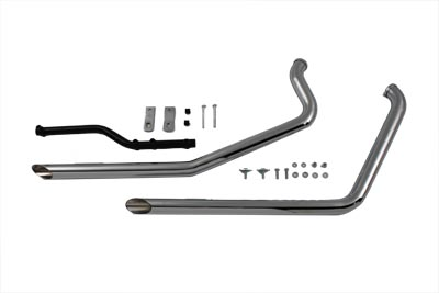 exhaust drag pipe set slash cut for harley davidson by cycle shack