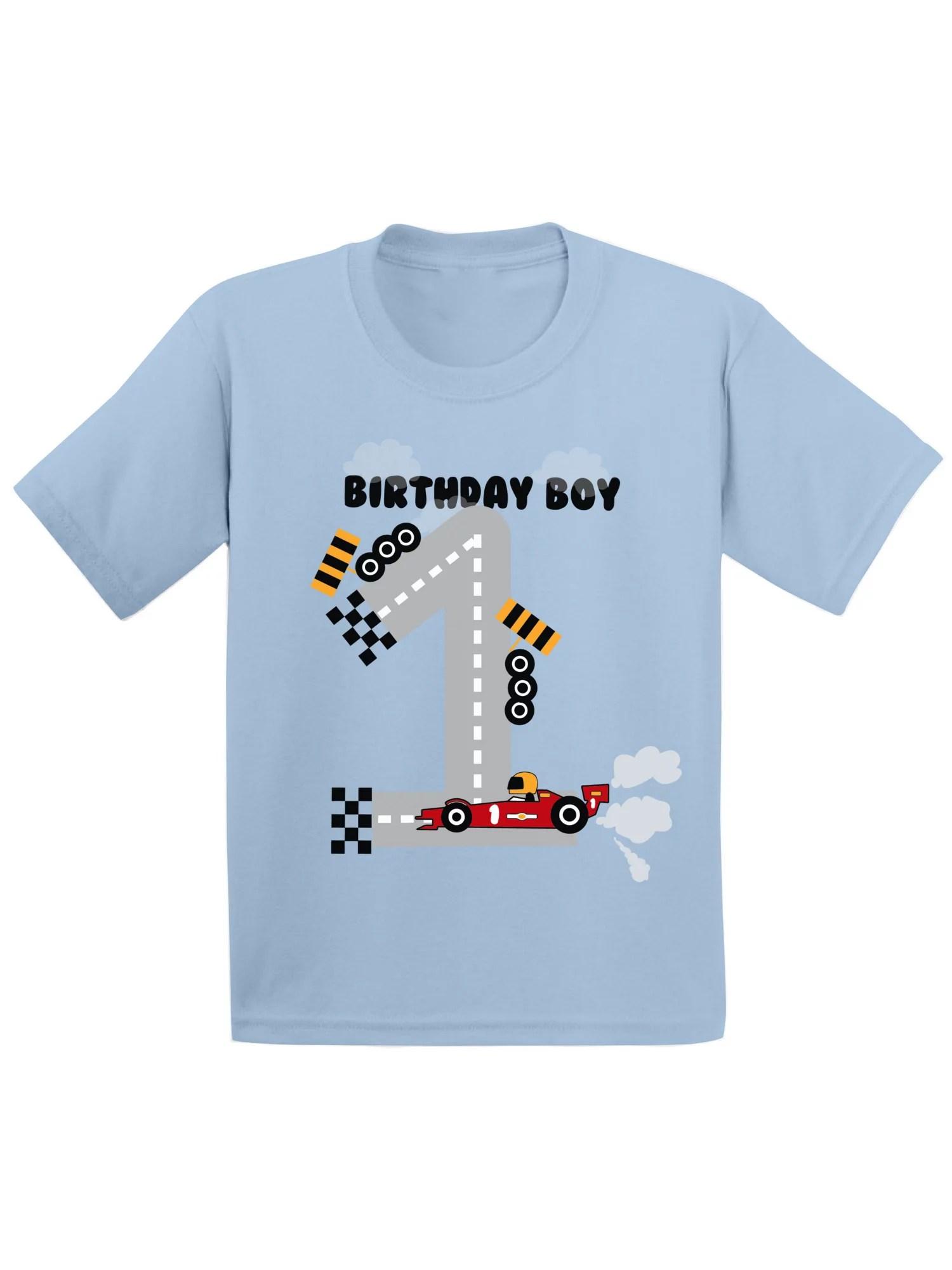 Awkward Styles Awkward Styles Birthday Boy Race Car Infant Shirt Birthday Gifts For 1 Year Old Baby Boy Race Car Birthday Party For Boys 1st Birthday Tshirt For Baby First Birthday