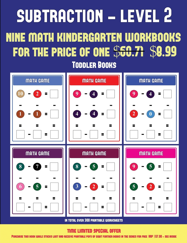 Toddler Books Toddler Books Kindergarten Subtraction