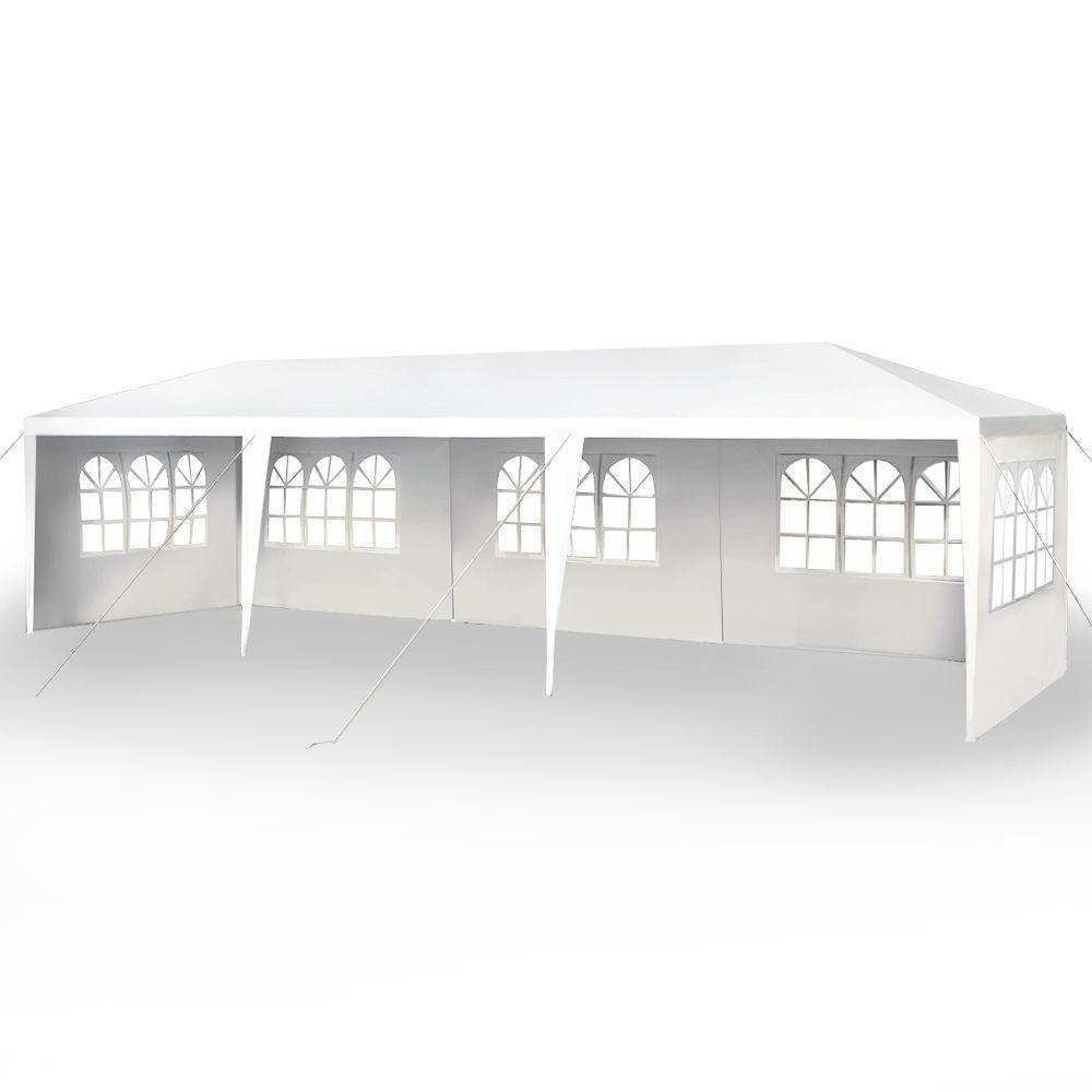 10 x30 party tent wedding outdoor patio tent canopy heavy duty gazebo pavilion 5 white