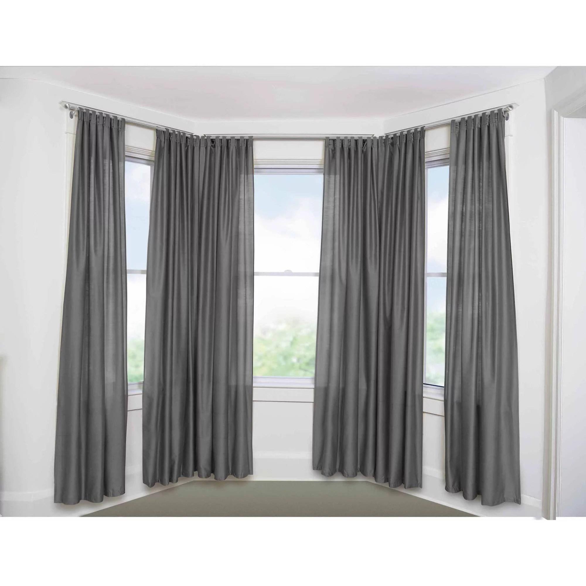 bay window adjustable curtain rod for windows 5 8 diameter