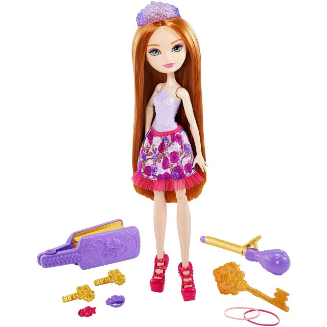 ever after high hairstyling holly doll