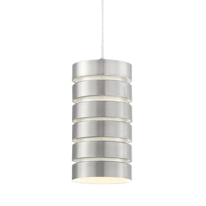 Brushed Nickel Pendant Light Fixture Modern Industrial Hanging Kitchen Metal Led Chandeliers Ceiling Fixtures Home Garden