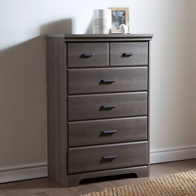 South Shore Versa 5 Drawer Chest Multiple Finishes Walmart