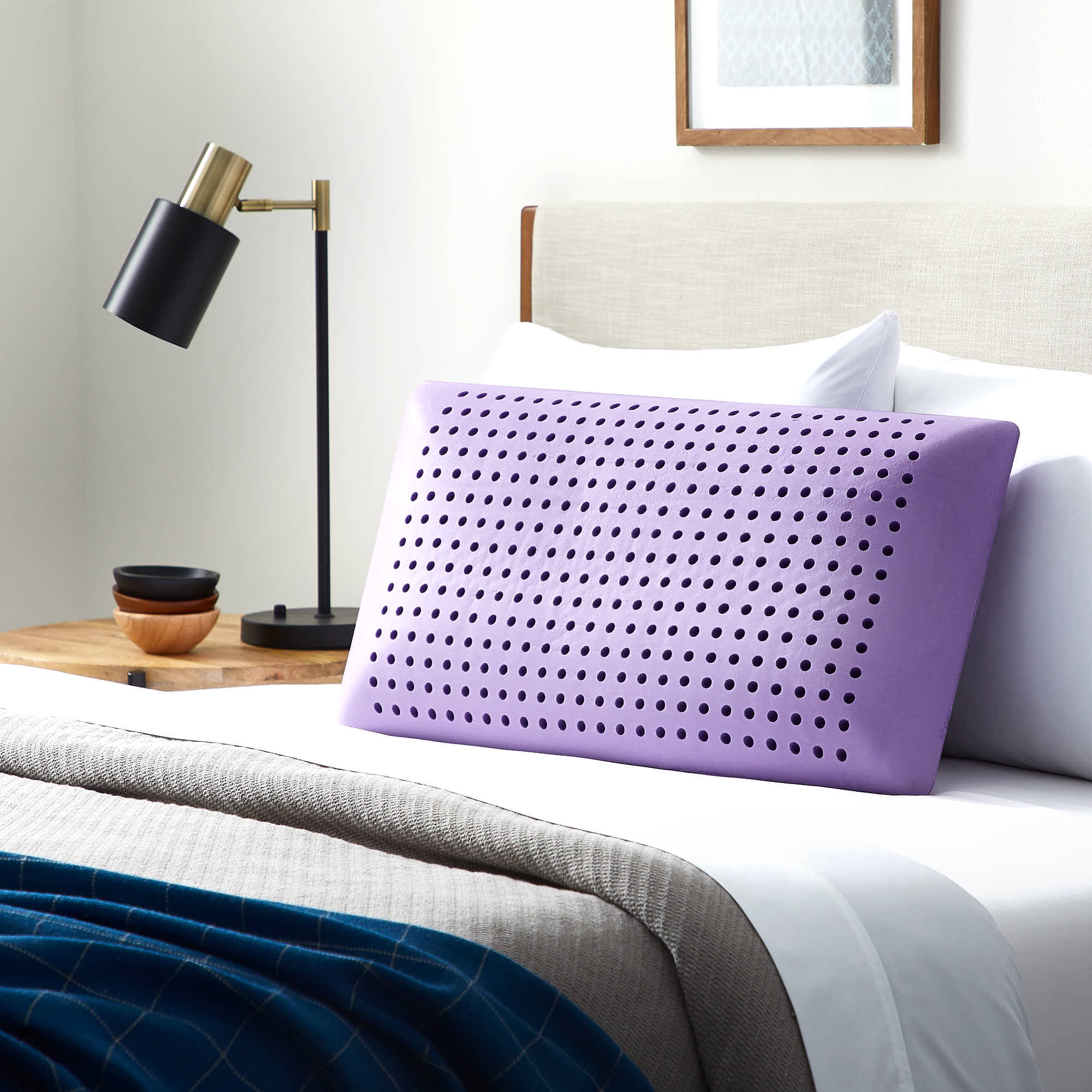 lucid lavender infused memory foam pillow queen