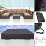124 Waterproof Outdoor Furniture Cover Patio Garden Wicker Sofa Couch Cover Walmart Canada