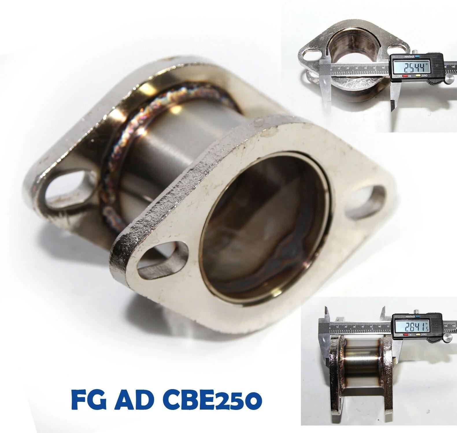 catback exhaust muffler 2 9 extension flange steel adapter 2 5 2bolt flange catback exhaust muffler 2 9 extension flange steel adapter 2 5 2bolt