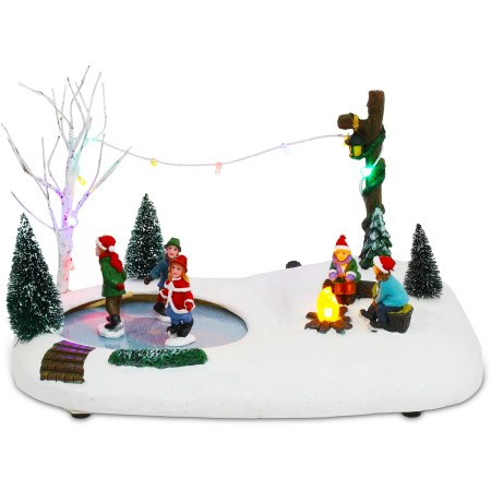 Ice Skating Christmas Centerpiece
