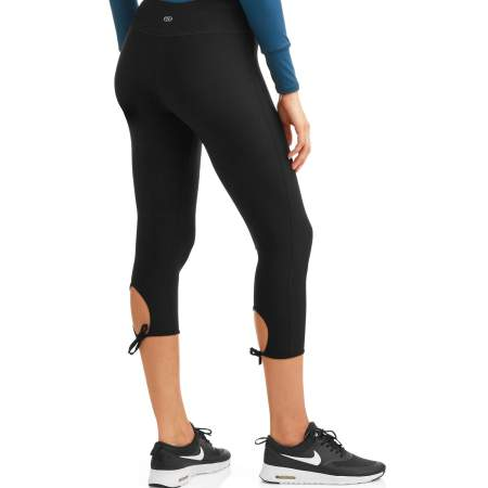 N.Y.L. Sport Women's Active Ruched Ankle Performance Capri Legging