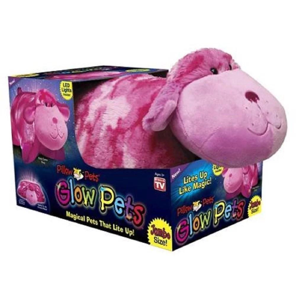 pillow pets glow pets pink camo dog jumbo 18 walmart com