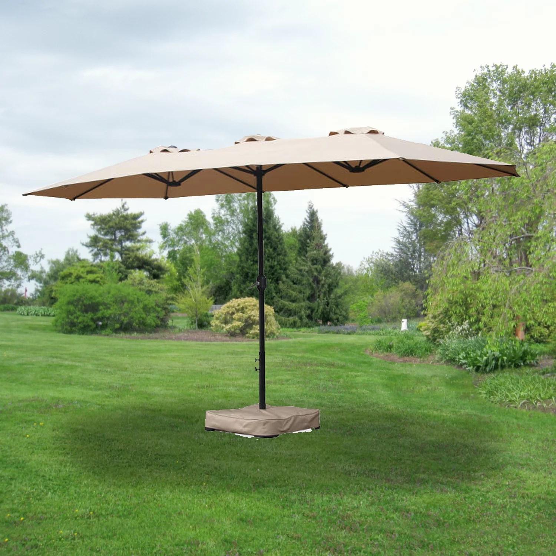 garden winds replacement canopy for 15 ft triple patio umbrella walmart com