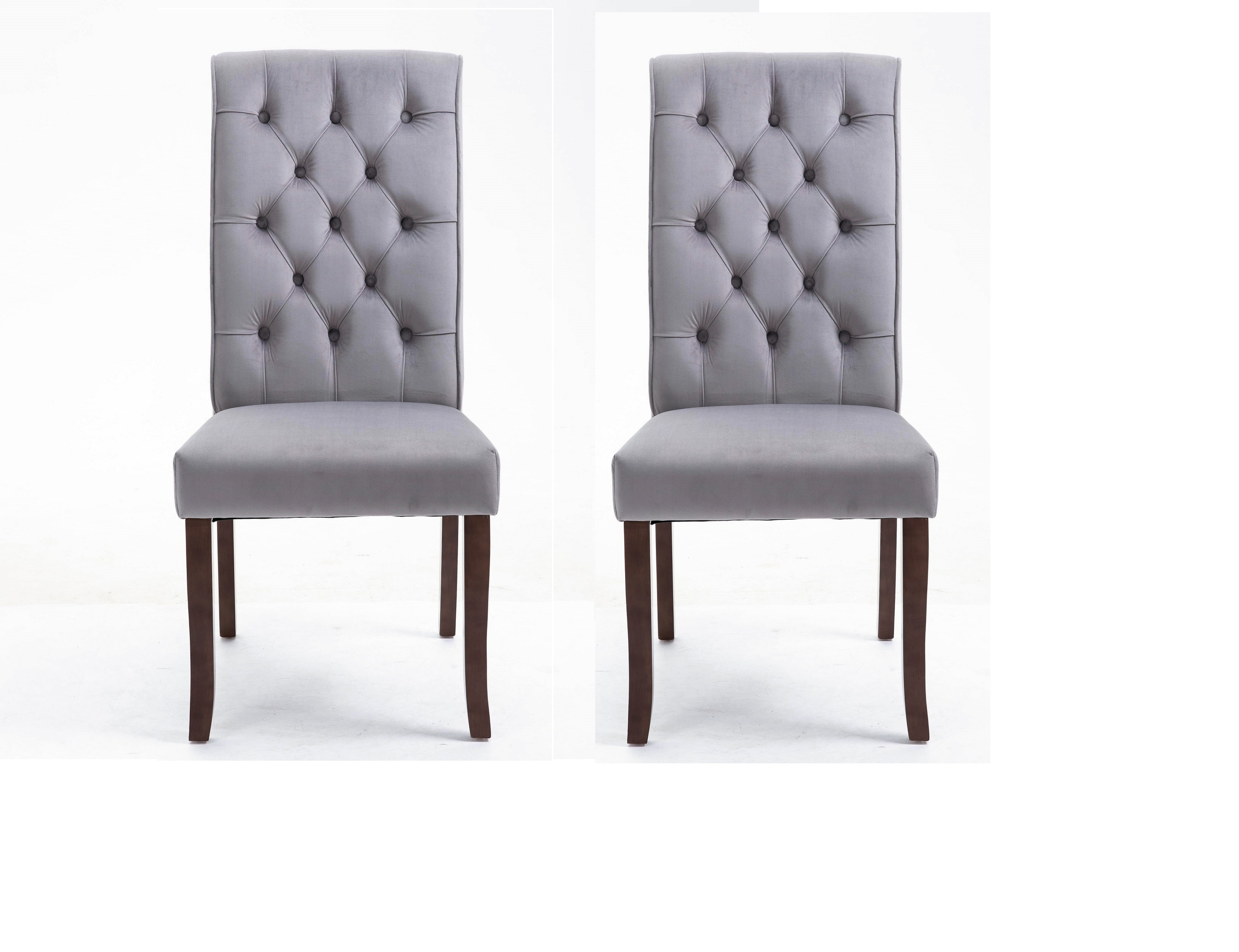 Upholstered Dining Chairs Set Of 2 43 X19 6 X27 5 Tufted High