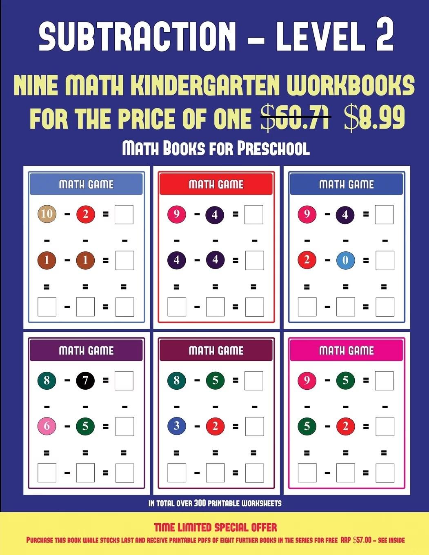Math Books For Preschool Kindergarten Subtraction Taking