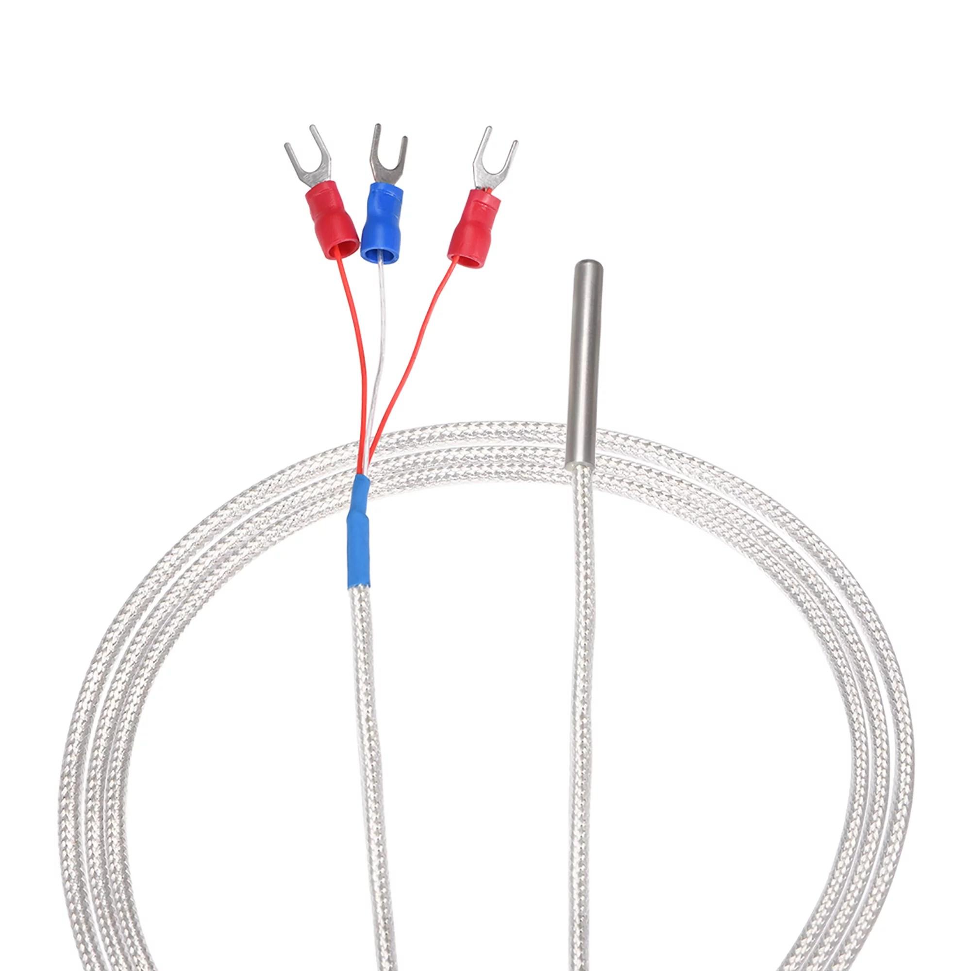 Pt100 Rtd Temperature Sensor Probe 3 Wire Cable