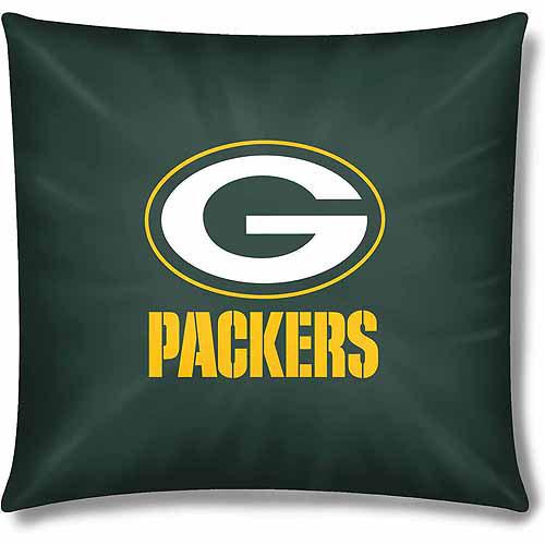 nfl green bay packers official 15 toss pillow 1 each