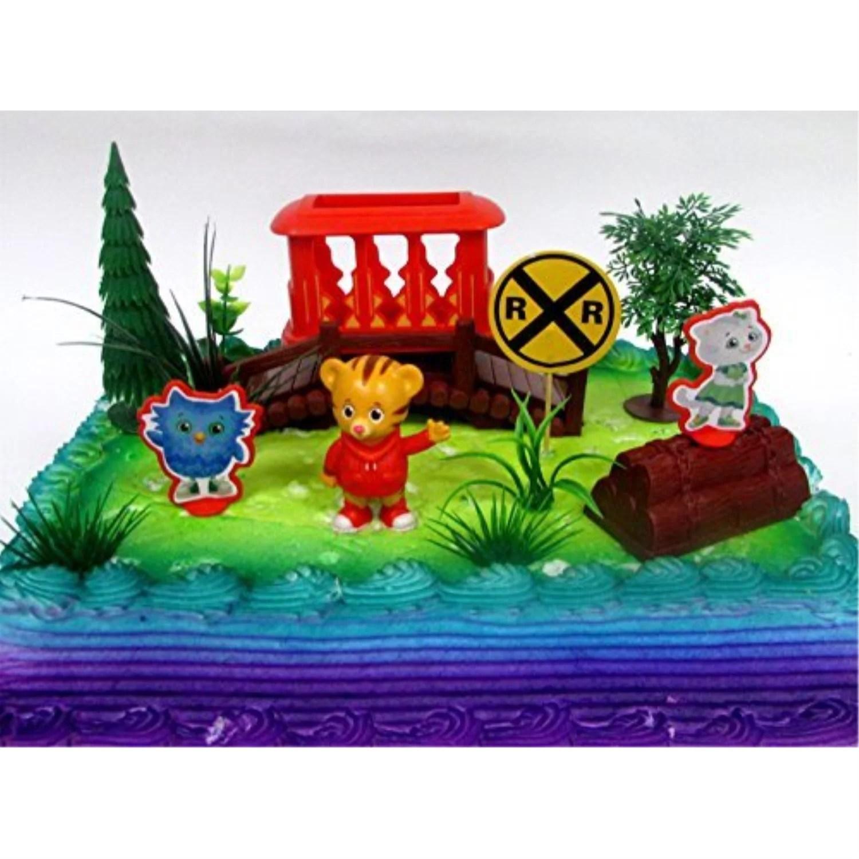 Daniel Tiger S Neighborhood 10 Piece Birthday Cake Topper Set Featuring Daniel Tiger Katerina Kitty Cat And O The Owl Decorative Themed Accessories Walmart Com Walmart Com