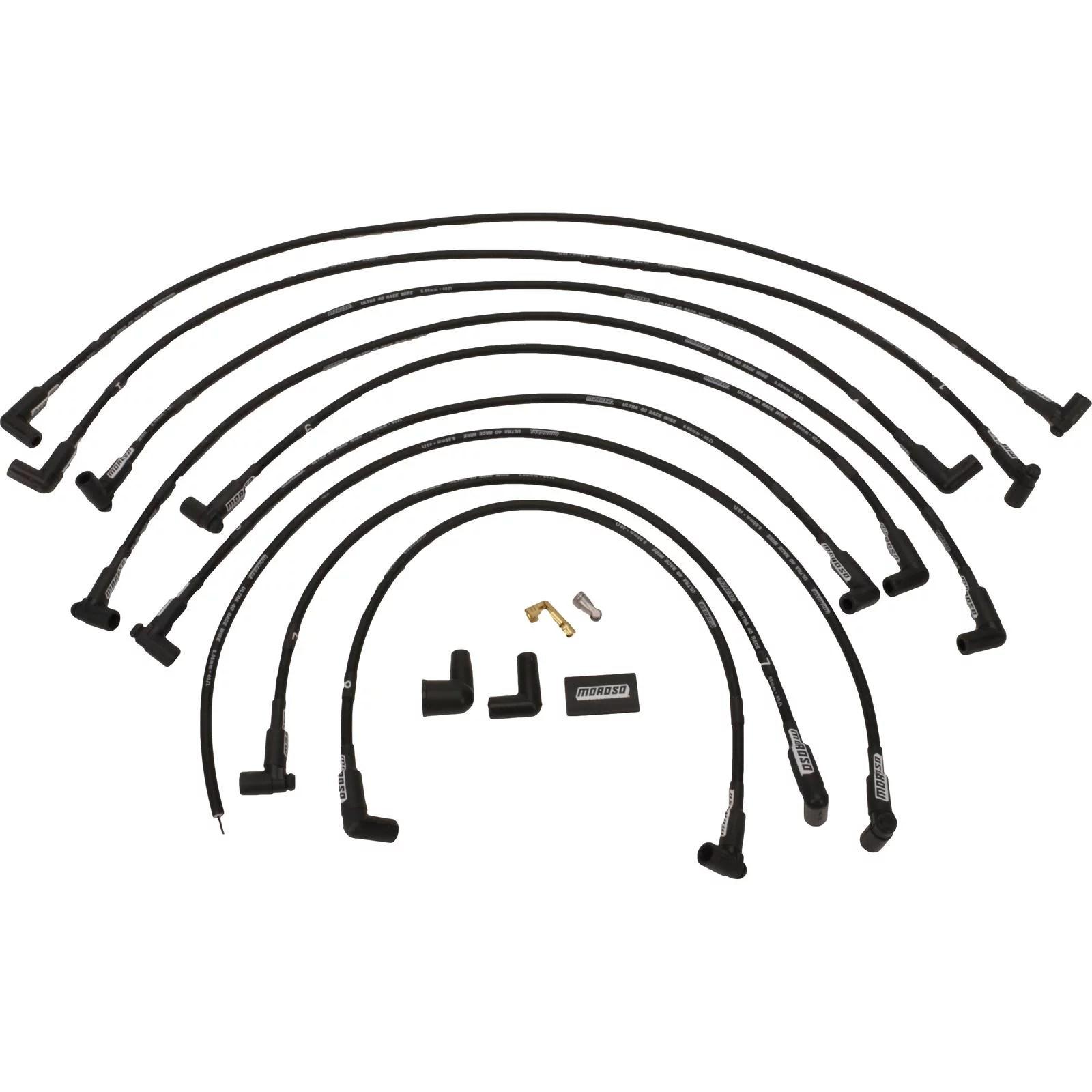 Moroso Small Block Chevy Custom Wires 90 Degree