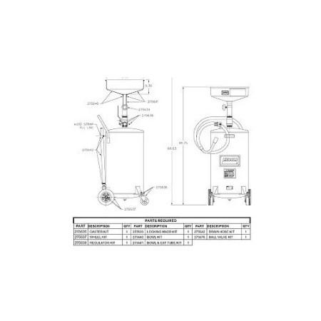 Lincoln Usa Ln275642 Drain Hose Kit F 3601