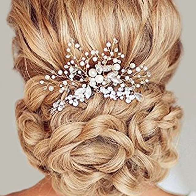 aukmla wedding hair accessories bridal hair combs with beads